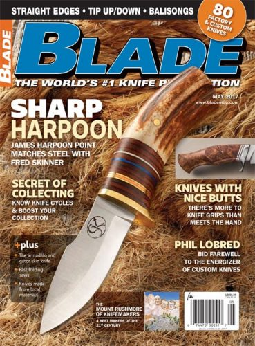 Blade Magazine cover – featuring my custom fixed blade knife