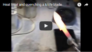 Process of heat treating a knife blade
